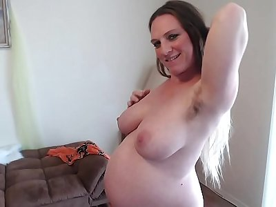 Hairy Ginger Pussy Squats Squirts Sucks Pussy Juices 36 Weeks Pregnant Different Angles be required of Chunky Belly - BunnieAndTheDude
