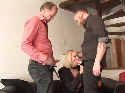 Full-grown mom takes old and young cocks respecting fisting and anal