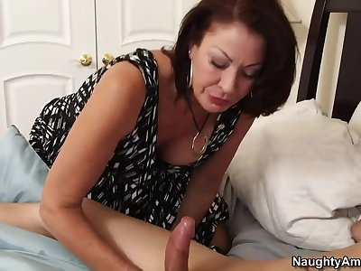 Hot milf momma Vanessa goes all out