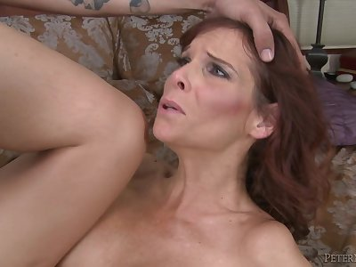 Delicious brunette MILF in hot oral action