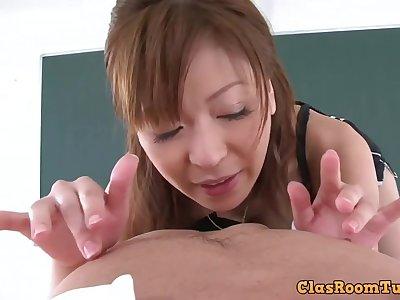 Hot japanese lady hardcore sex video - POV style porn