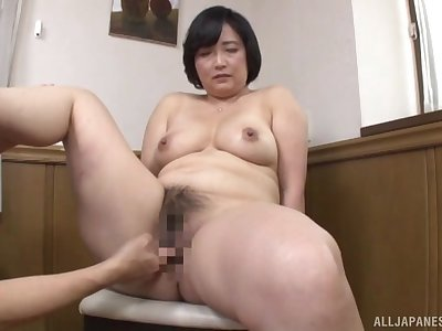 Japanese full-grown works young inches wide both her hairy holes