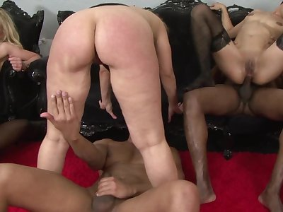 Hot moms training with dildo before property big black cocks - group sex