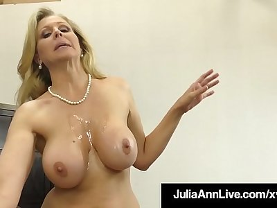 Gumshoe Sucking Cougar Julia Ann Sucks & Strokes Lucky Cock!