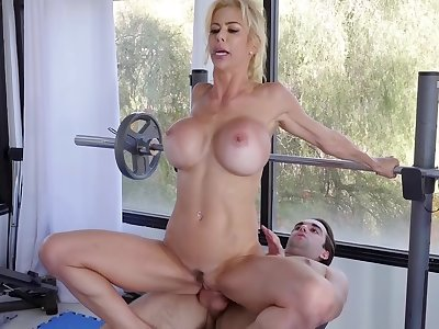 Big-titted Alexis Fawx gets misspend during a physical wield