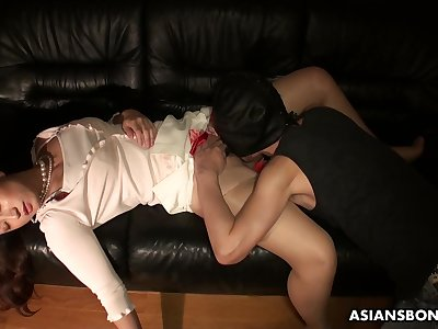 Boyfriend licks and fucks pussy be worthwhile for sleeping girlfriend Ayumi Wakana