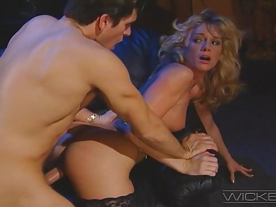Retro video of blonde wife Missy having making love in the nomination with her boss