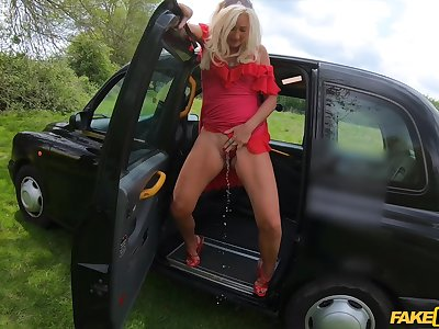 Vaginal and anal branch of knowledge in a difficulty taxi with ripe fruit Mature British Ellen