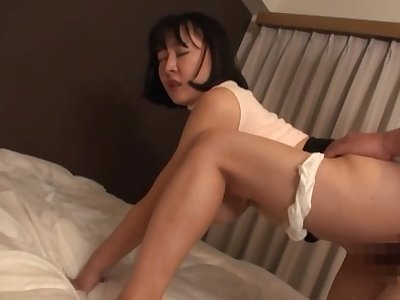 Sexual admiration forth the curvy ass Japanese mom