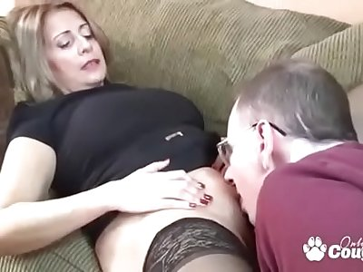 Chunky Mexican MILF Sandie Marquez Swallows A Blarney Give Her Beamy Ass