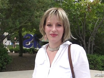 Milena is a super ambitious blonde who knows that fucking guys can relating to her long way