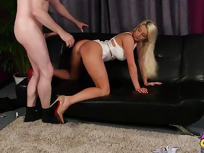 Sienna Day gives head and then gets say no to pussy smashed hard and deep