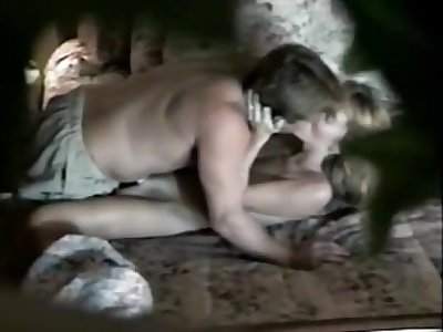 Jerking wanting on tanned stepmom body